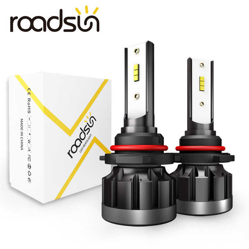 roadsun 6000K H4 LED H7 H1 HB4 H11 HB3 CSP Chip Car Headlight Bulbs 72W 12000LM Car Styling 9005 9006 led automotivo