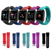 1 Set Fashion Original Silicone Wrist Strap Smart Wearable Bracelet Accessories For 116 Plus Smart Watch Sport Edition Strap cheap centechia CN(Origin) Adult Android Support As shown