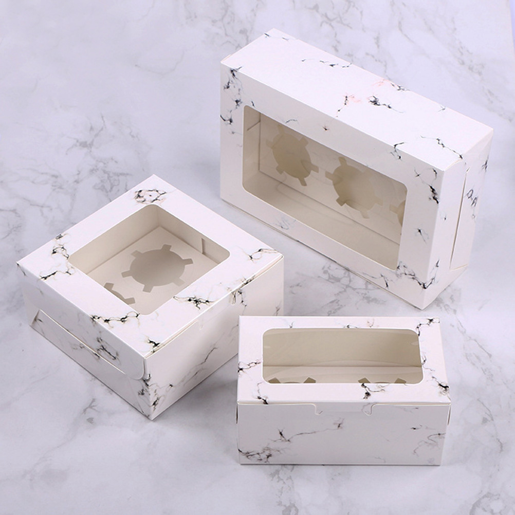 Pack Of 25 Windowed Cupcake Boxes With 6 Cavity Insert
