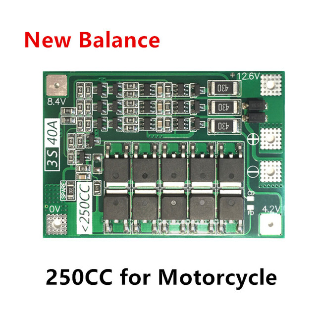 3S 40A BMS 11.1V 12.6V 18650 lithium battery protection Board with balanced Version for drill 40A current/ Motorcycle battery 3