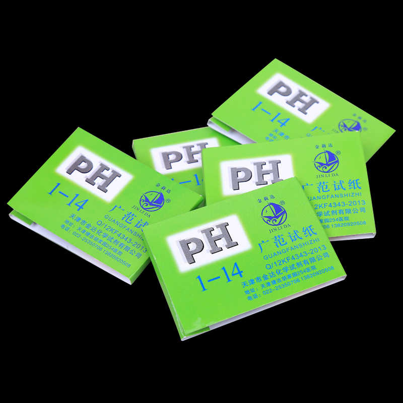 1 takım = 80 şeritler! Profesyonel 1-14 pH turnusol kağıdı ph test şeritleri su kozmetik toprak asitliği test şeritleri kontrol kartı ile