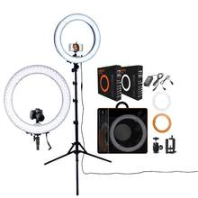 RL-18 photographic lighting 5500K Led Ring Light WithTripod & Orange Bag Ring Lamp For Makeup Camera Phone Youtube Video(China)