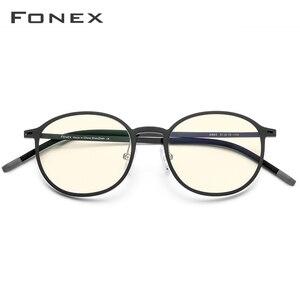 Image 2 - FONEX TR90 Anti mavi ışık gözlük erkekler gözlük gözlük gözlük gözlük Anti mavi oyun bilgisayarı gözlük kadınlar için AB02