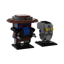 Moc Star Space Battle Cad Bane and Todo 360by Classic Movie Series Brickheadz Building Block Assembly Model Children Toys Gifts