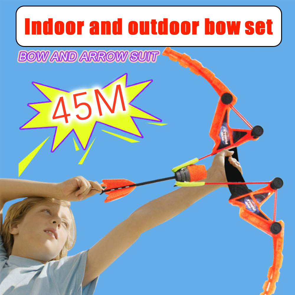 Child Safety Simulation Bow And Arrow Will Whistle Elastic Soft Suction Cup Arrow Large Youth Outdoor Indoor Sports Shooting Toy