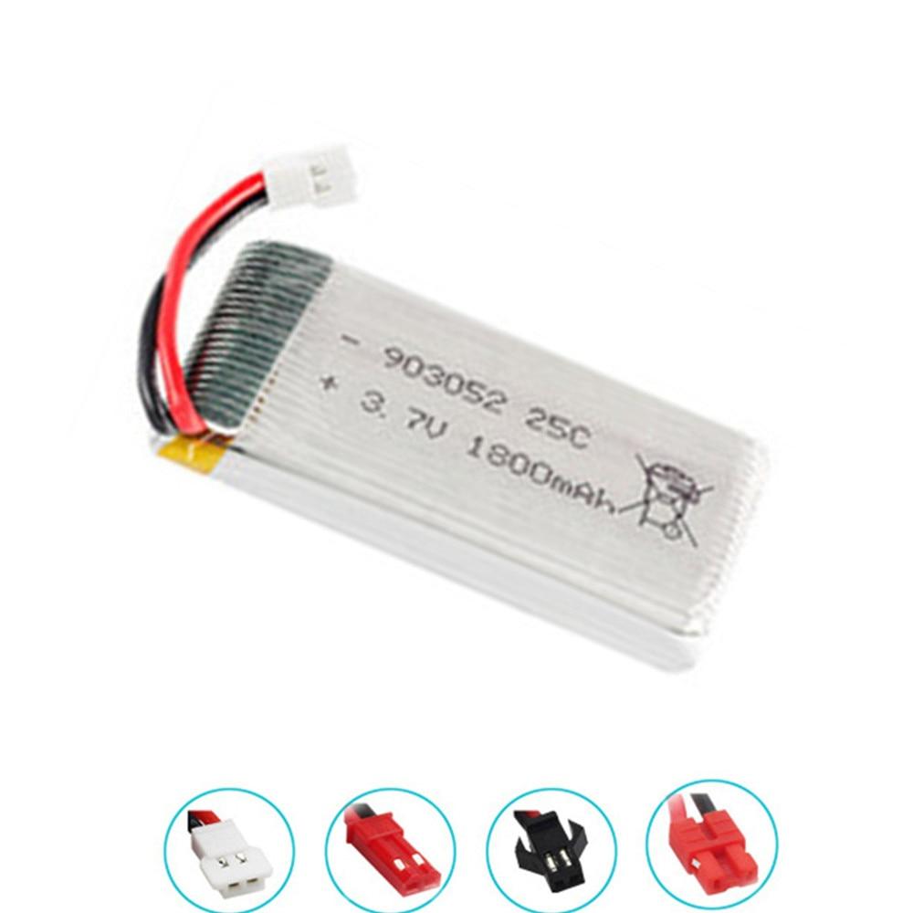 3.7v 1800mAh Lipo Battery For SYMA X5SW X5 M18 H5P KY601S 903052 3.7v Rechargeable Battery XH2.54 Plug 1pcs-10pcs