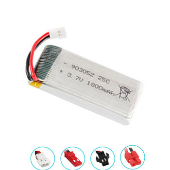 3.7v 1800mAh lipo Battery for SYMA X5SW X5 M18 H5P KY601S 903052 3.7v rechargeable battery XH2.54 Plug 1pcs-10pcs image