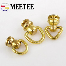 4Pcs Solid Brass Rotated D Swivel Ring Chain Wallet Key Connector Bag Hanger Metal Buckle Snap Hook DIY Leather Craft