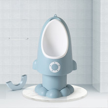 Baby Boy Potty Toilet Training Rocket Children Wall-Mounted Hook Potty Stand Vertical Urinal Penico Pee Infant Home Rocket Urina(China)