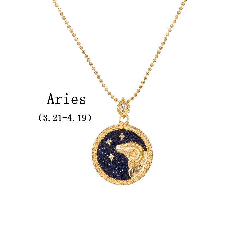 Image 4 - Silvology, Голубой песок, камень 12, подвеска созвездия,  ожерелье, 925 пробы, серебро, элегантное ожерелье для женщин, 925,  ювелирные изделия на день рожденияОжерелья