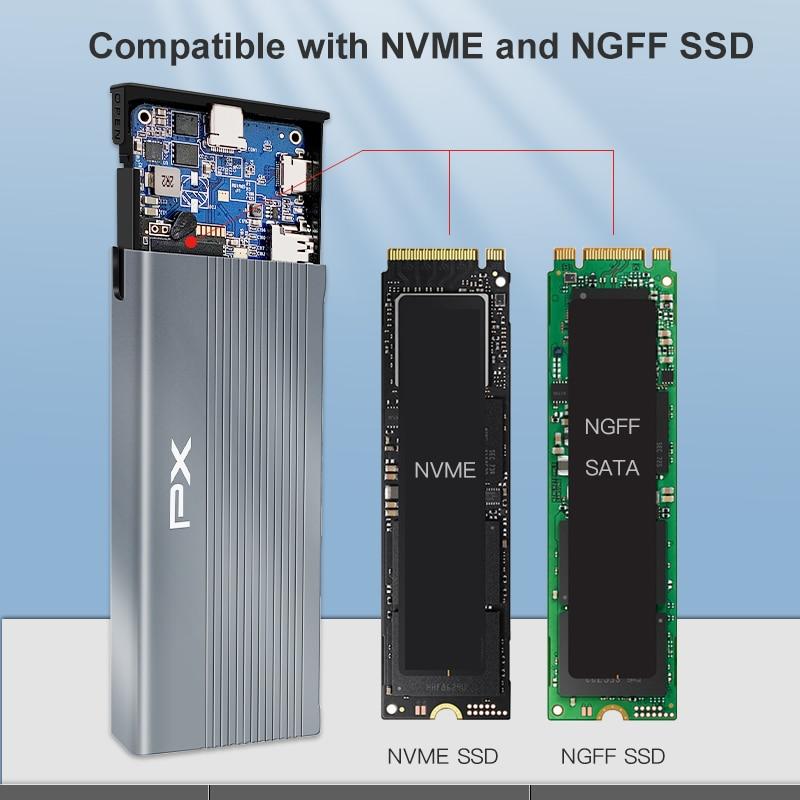 Tipo px c3.1 usb c docking station com m.2 sata ssd gabinete portátil docking station para ipad macbook pro acessórios usb c hub-1