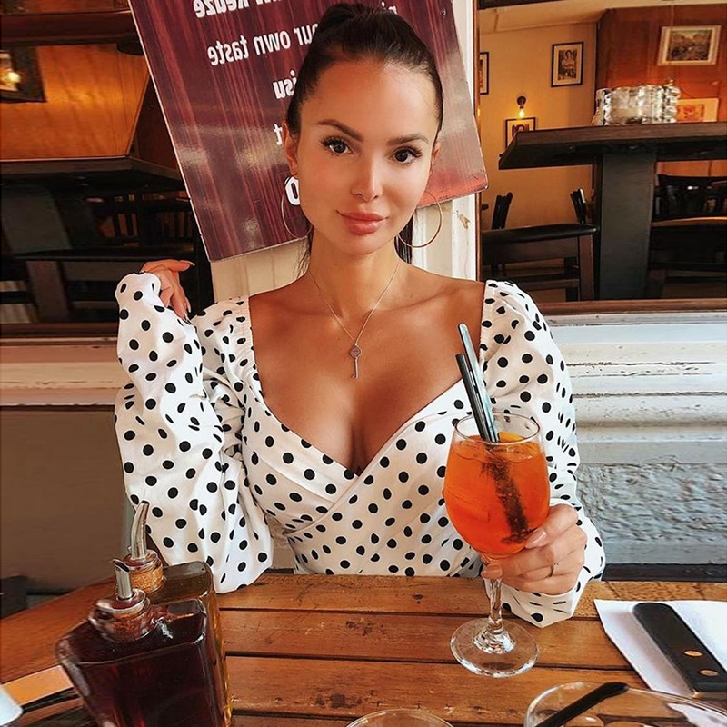 New sexy V-neck vest women's fashion summer 2019 dot lace shirt women short section hot with casual white sling   tops