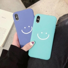 Tfshining Cute Smile Painting Phone Cases For iPhone X XR XS MAX 6 6S Plus 7 8 Lovely Matte Soft TPU Silicone Back Cover
