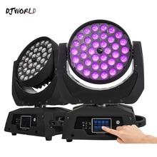 % 282PCS% 29LED Zoom Wash 36x18W RGBWA% 2BUV Moving Head Light Touch Screen18 Каналы +DMX Stage Light For Bar Render DJ Disco Nightclub