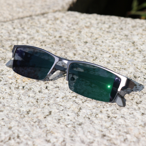 Image 5 - Soleil photochromique myopie lunettes hommes fini caméléon lentille Prescription lunettes demi métal cadre 0.5  0.75  1.0  2 à 6
