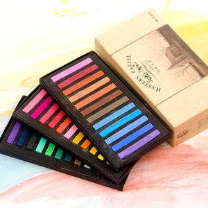 Crayon-Set Drawing-Pen Painting Dry-Pastel-Artist Color Soft Student 48 12 24-36