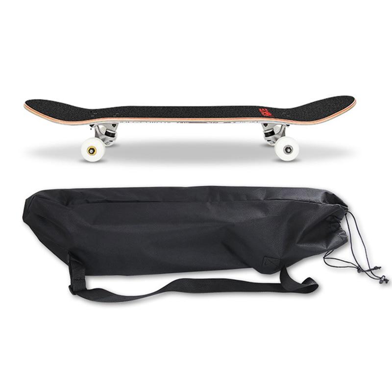 Skateboard Bag Double Rocker Longboard Small Fishboard Cover Skateboarding Bag Thicken Waterproof Carrying Backpack Street Bags