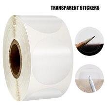 Rouleau de sceaux de détail transparents autocollants ronds de 1 pouce, 500 pièces/rouleau, pour emballage, enveloppes, boîte-cadeau