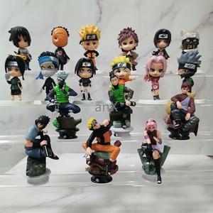 Image 2 - 7 CM 6 PCS Naruto Action Figure Toys 12 Styles Q style Zabuza Haku Kakashi Sasuke Naruto Sakura PVC Model Doll Collection Toy