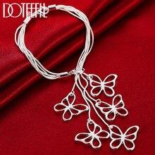 DOTEFFIL 925 فضة خمسة فراشة ثعبان سلسلة سوار للمرأة سحر الزفاف المشاركة موضة مجوهرات الحفلات