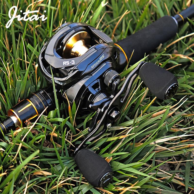 Jitai RS-3 Gull Wing Baitcasting Fishing Reel 7.3:1 High Speed 19 LB Max Drag UltraLight Spool Carp Casting Reel Fishing