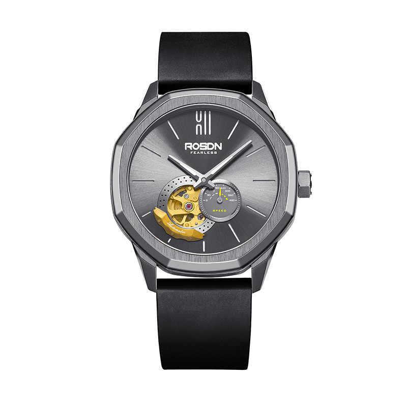 Marque de luxe ROSDN montres pour hommes japon miborough 8N40 automatique mécanique montre de poche homme saphir squelette 50M étanche R2189