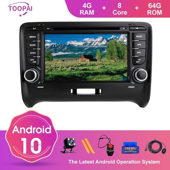TOOPAI Auto Radio Stereo Head Unit Android 10 For Audi TT MK2 2006-2012 GPS Navigation Car Multimedia Player DVD CD SWC Wifi 3G