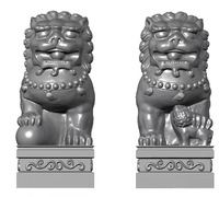 Outdoor garden sculpture stone marble lion moulds statues animal mold for sale