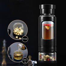 Wall Bottle Travel Tea Mug Tumbler For Dink Tea With Infuser Double Glass Coffee Water Bottles For Water Portable Outdoor glass bottle with tea infuser double wall glass portable travel outdoor tea tumbler bottles home office drinkware for car 350ml