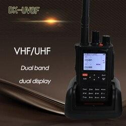 DONGKE UV 8F мощная портативная рация 10 км CB радиостанция yaesu sq трансивер VHF большой диапазон портативный dmr радио comunicador