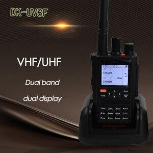 DONGKE UV 8F мощная рация 10 км CB радиостанция yaesu sq трансивер VHF большой диапазон портативный dmr радио comunicador