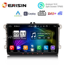 """Erisin 8791 9 """"PX5 DSP 안 드 로이드 10.0 자동차 스테레오 CarPlay 자동 DAB + 4G GPS 폭스 바겐 Passat CC 골프 6 Tiguan Jetta 폴로 Eos 좌석 Skoda"""