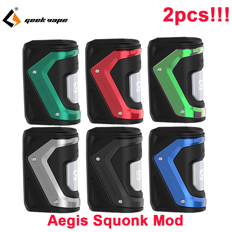 2 pièces Geekvape Aegis Squonk TC Box Mod 100W AS-100 Chipset étanche Cigarette électronique Vape fit RDA vs ageis solo vaporisateur