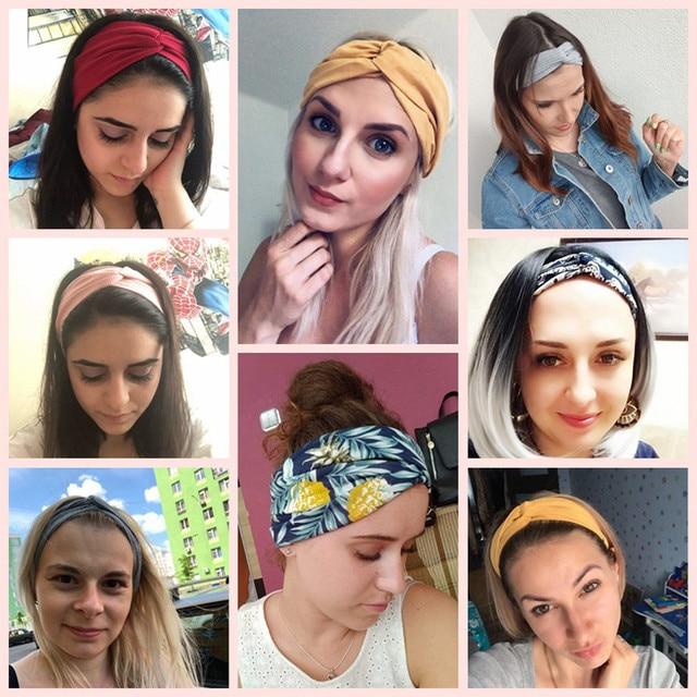 13 Colors Nonslip Elastic Folds Yoga Hairband Fashion Wide Sports Headband Running Accessories Summer Stretch Hair Band 5