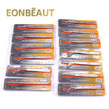 10 PCS EONBEAUT VETUS SA Series Eyelash Tweezers Non-magnetic Stainless For Eyelash Extension Ultra Precision Eyebrow Tweezers