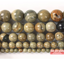 Wholesale Natural Stone Beads Silvers Astrophyllite Round Lo