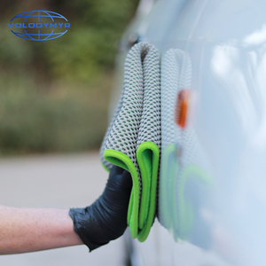 Image 5 - Microfiber Towel Car Cleaning Towel Auto Detailing Tools 40*40cm with Mesh for Car Clean Drying Detail Carwash Washing