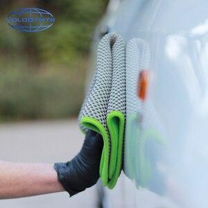 Image 5 - Toalla de microfibra, toalla para limpieza de coche, herramientas de Auto detalle 40*40cm con malla para limpieza de coches, detalle de secado, lavado de coches