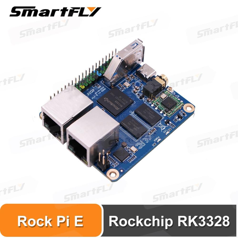 Компьютер Rock Pi E Rockchip RK3328, 512 МБ/1 Гб, DDR3 SBC/одна плата, поддержка Debian/Ubuntu/OpenWRT, такой же, как и Nanopi R2S, используется для IOT