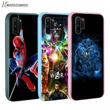Avengers Marvel Hero BASEUS Permen Warna PENUTUP UNTUK Samsung GALAXY Catatan 10 9 8 S11 S10 S9 S8 S7 PLUS edge Phone Case(China)