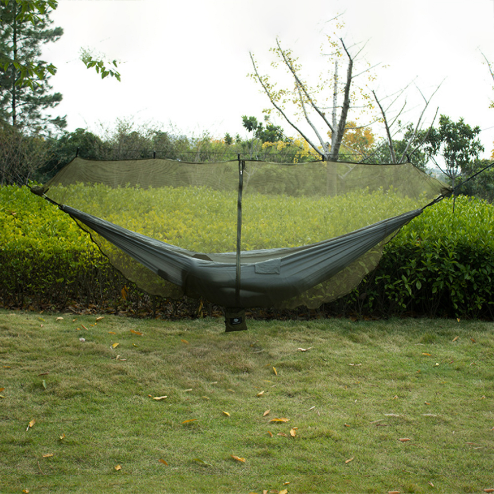 Zipper Hook Hiking Bug Mosquito Accessories 360 Degree Protection Hammock Net Easy Use Outdoor Double Separating Lightweight