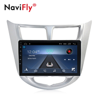 NaviFly 9 inch Android 8.1 car multimedia player gps navigation for Hyundai Solaris Accent Verna 1024*600 HD Bluetooth TDA7851