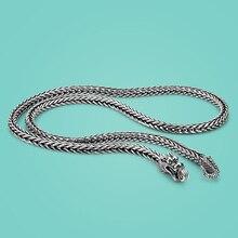 Мужское ожерелье из серебра 925 пробы, популярное серебряное ожерелье с драконом 925, цепочка для тела из твердого серебра, ювелирные изделия, винтажные аксессуары