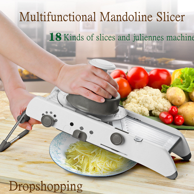 18 Types Use Mandoline Slicer Vegetable Cutter Shredder Professional Grater Fruit Potato Onion Cutter Vegetable Kitchen Tool