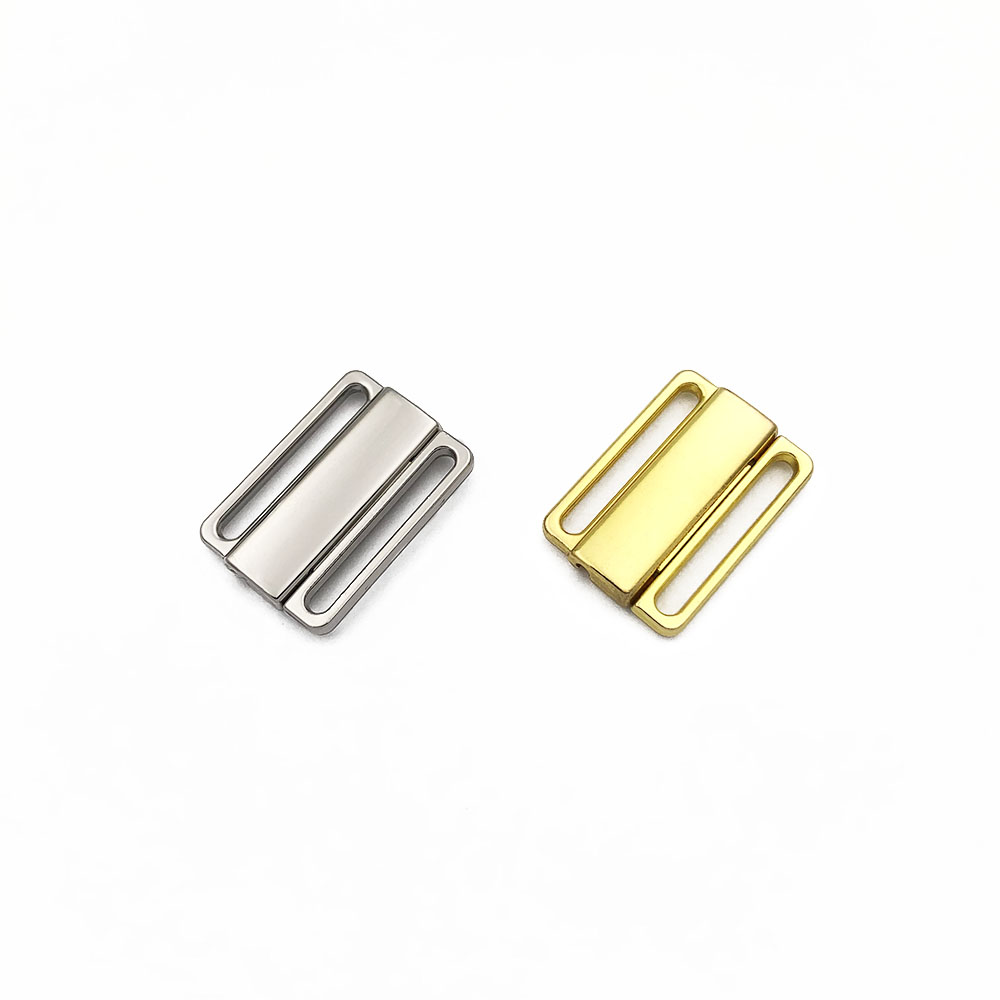High Quality 30 Sets 20mm Nickel Free Bra Clip Swimwear Clickers Metal Silver Front Closure Replacement