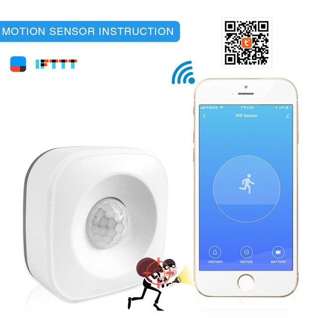 Tuya WIFI PIR Motion Sensor Wireless Passive Infrared Detector Security Burglar Alarm Sensor APP Control Support IFTTT