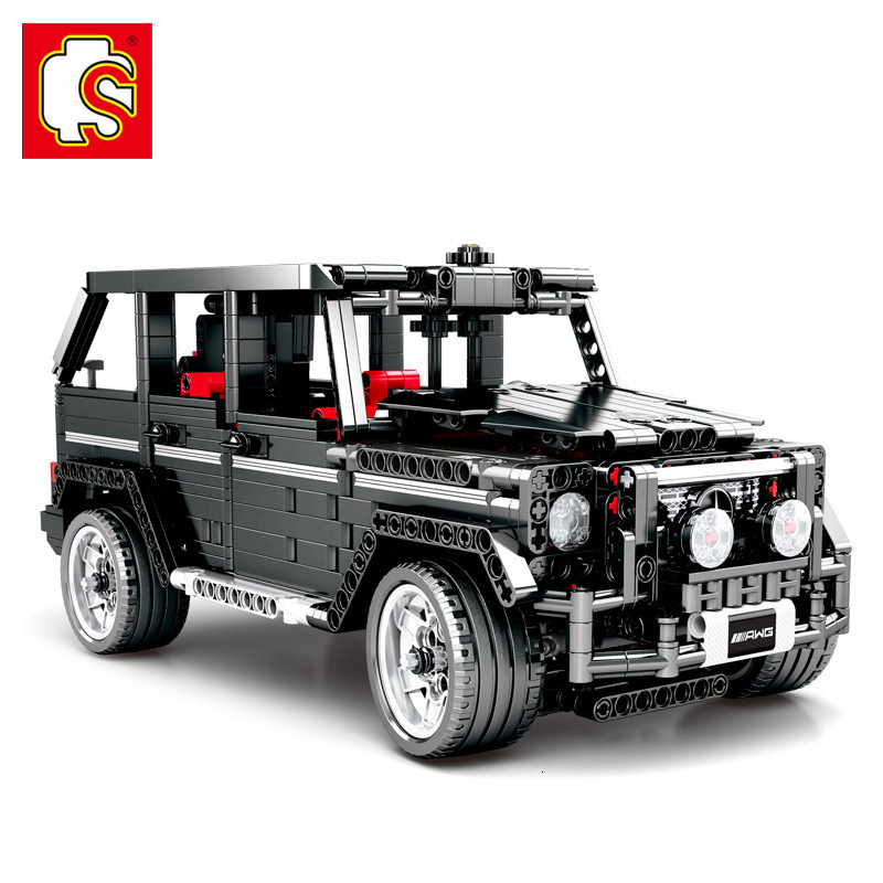 Semper Building Block Benz Will G500 Off-road Vehicle Sports Car Highly Difficult Assembling Adult Model <font><b>701960</b></font> image