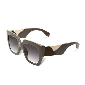 2019 double eleven Square Oversized Sunglasses Women Luxury Brand New Designer Gradient Sun Glasses Big Frame Vintage Eyewear - C6