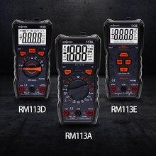 Richmeters multímetro digital 6000 contagens ncv automático variando ac/dc medidor de tensão flash luz traseira true rms