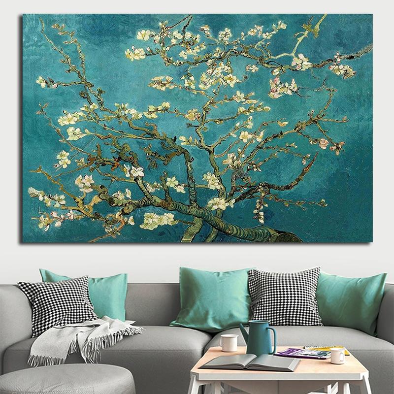 Ван Гог ветви миндаля Цветущий Куадрос настенная живопись напечатанная Картина на холсте украшение дома гостиная художественные плакаты